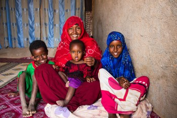 Sahra's family now has clean water to drink