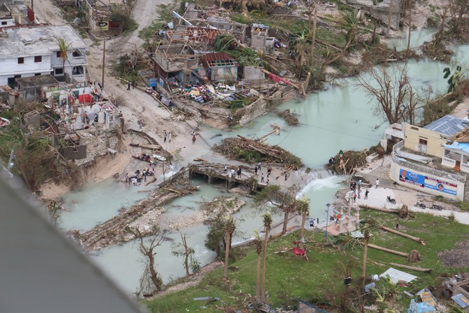 Some of the first images of Hurricane Haiti show the devastation on the ground.