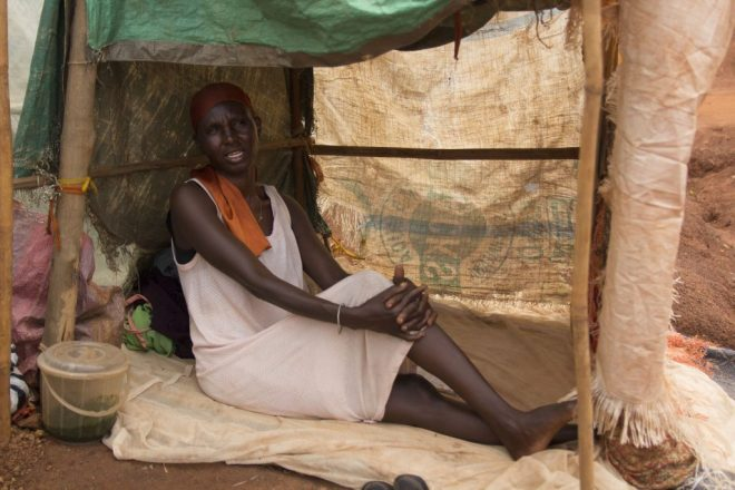 woman displaced by crisis in South Sudan