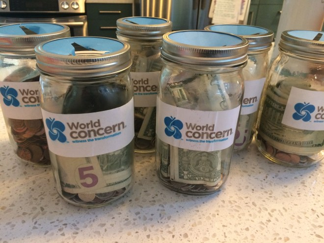 jars of change for water filters