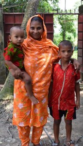Shiphon with his mother who dreamed he could have an education in Bangladesh.