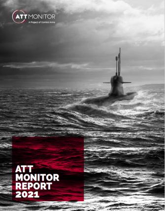ATT Monitor report cover, depicting submarine at sea.