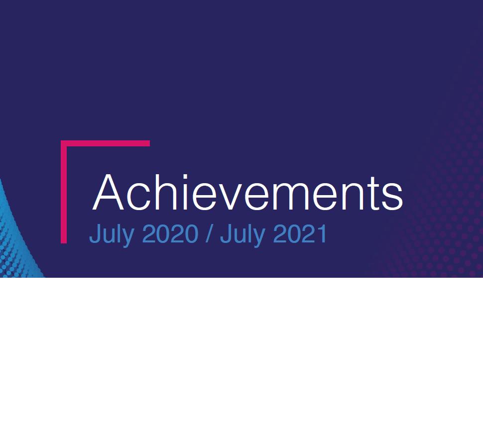 Achievements (July 2020-July 2021)
