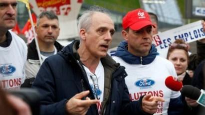 Philippe Poutou est l'un des trois salariés de Ford poursuivis pour dégradations en réunion, commises en 2012 au Salon de l'automobile de Paris. Photo : Reuters