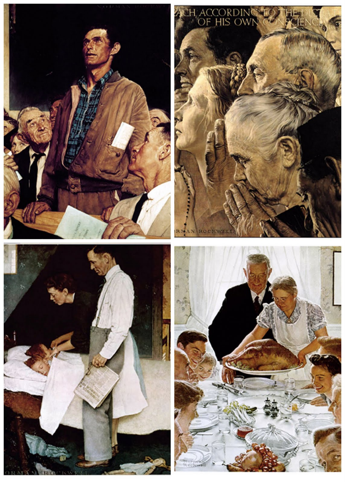Norman Rockwell Freedom Of Speech The Saturday Evening
