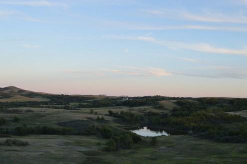 Distant Huff farm