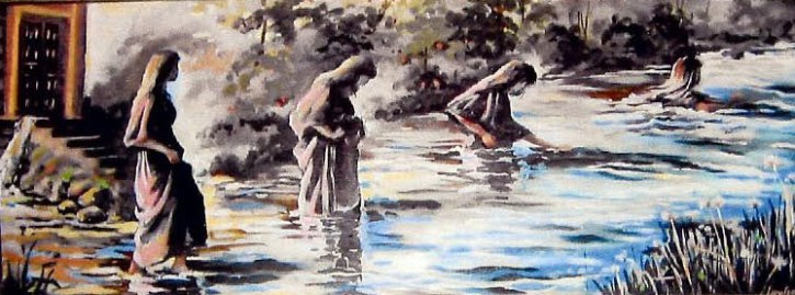 Going Deeper, by Louise Bass, based on Ezekiel 47