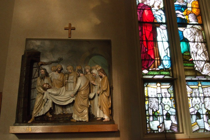 Final station of the Cross at Immaculate Conception Cleveland