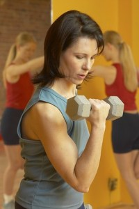 woman weight training for fitness
