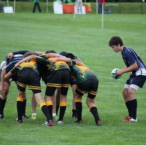 Youth Rugby Scrum