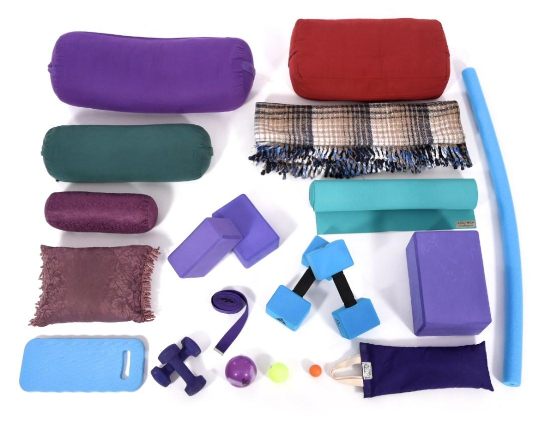 Hatha yoga equipment.