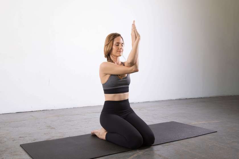 Eagle Arms Pose: Yin yoga poses for the shoulders