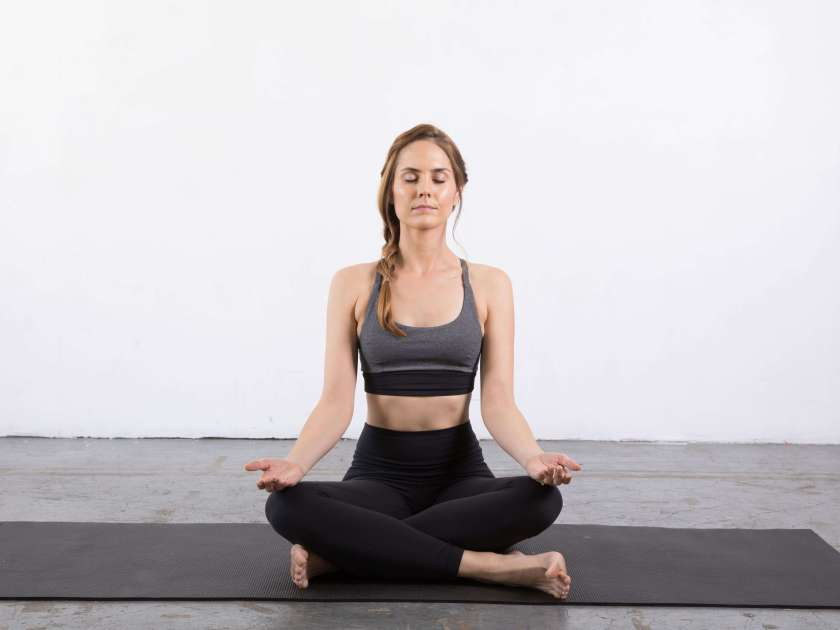 Easy Seated Pose: Yin yoga poses for the shoulders