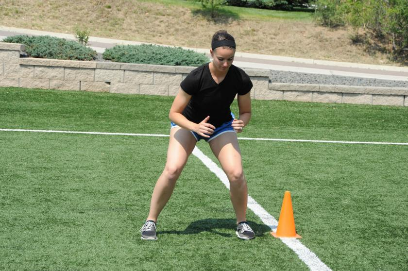 Lateral Shuffle and Stick: Agility Drills for Football