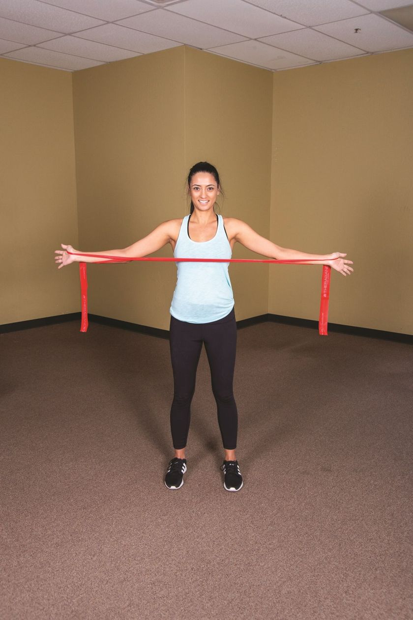 Shoulder exercise resistance band Upper Body Bruegger
