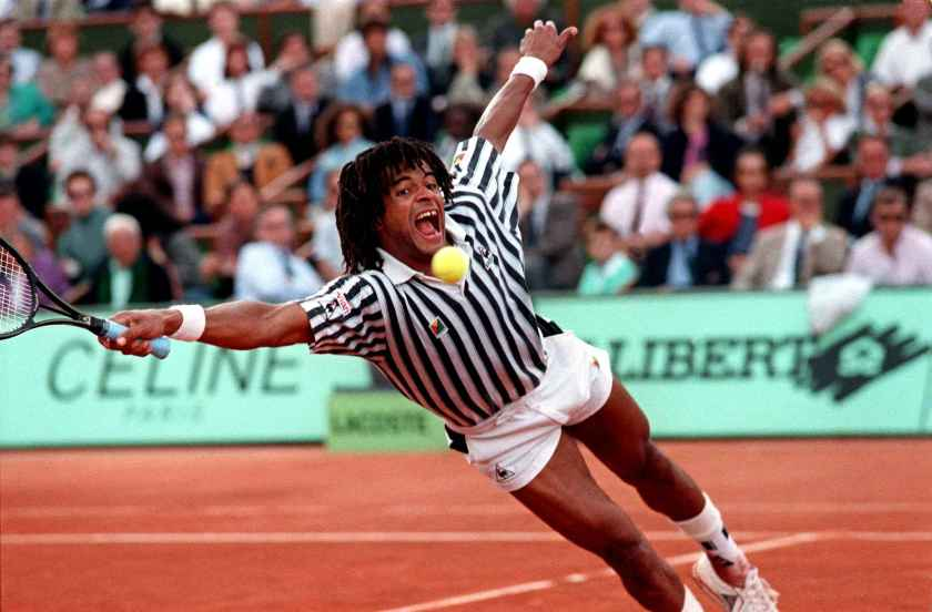 Yannick Noah - tennis most popular sports in Europe