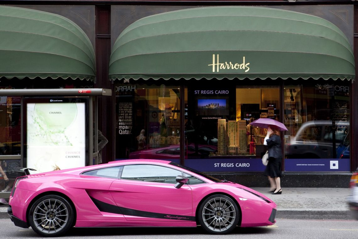 super car outside harrods