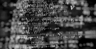 Math formulas on blackboard