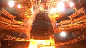 RS-25 Rocket engine being test fired
