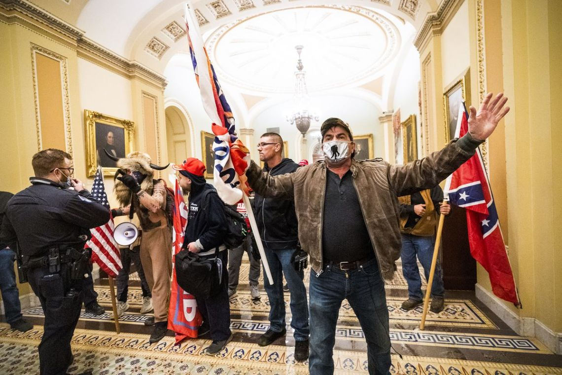 rioters in the halls of congress