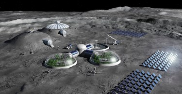 Artist impression of a Moon Base concept.