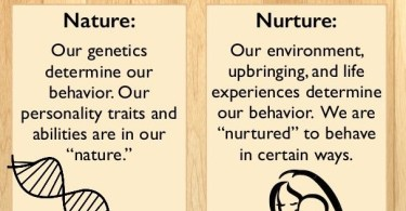 definitions of nature and nurture