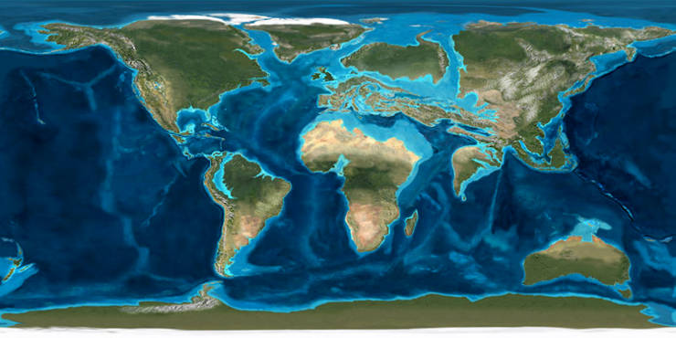 image of the what the continents looked like 50m years ago