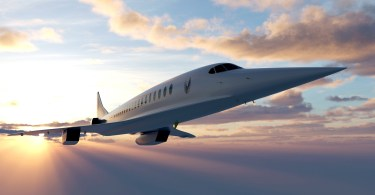 artists impression of Boom's supersonic plane