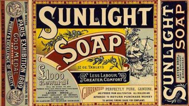 sunlight soap packaging from 1889