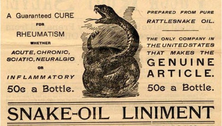 vintage label from snake oil treatment