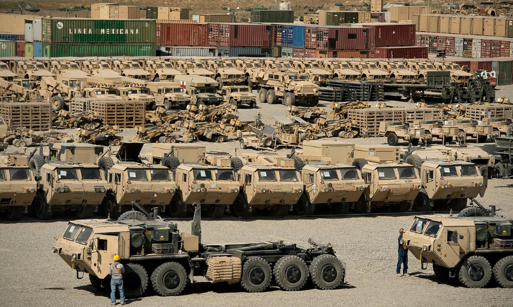 US Military equipment in Afghanistan