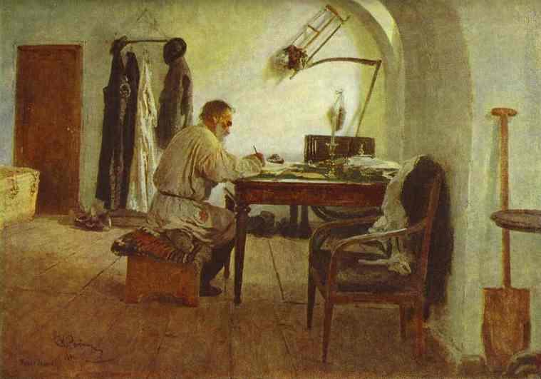 Tolstoi, Repinin maalaus