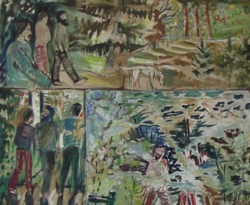 Vaihtoehtoliike Idun kesäleiriltä - Inari Heinosen maalaus
