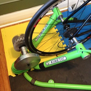 The Kurt Rock and Roll trainer allows the bike to rock back and forth reducing frame stress.