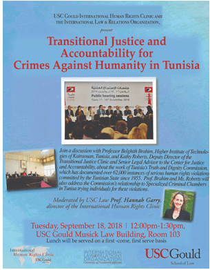 Transitional Justice and Accountability for Crimes against Humanity in Tunisia