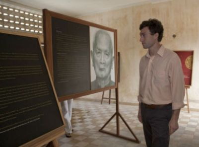 Photo of Brian Rifkin at a genocide memorial site in Cambodia in 2011.