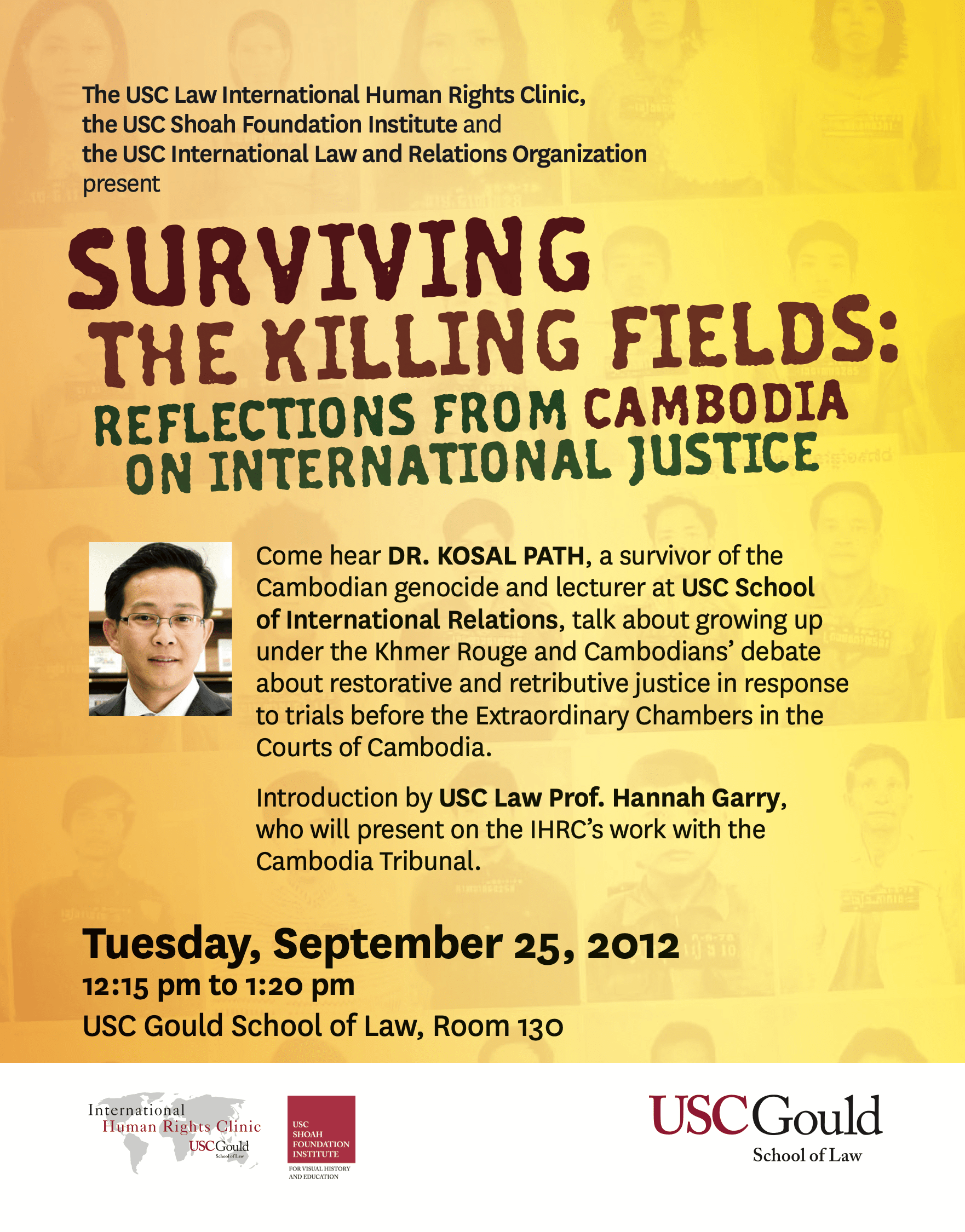 EVENT: Surviving the Killing Fields – Reflections from Cambodia on International Justice