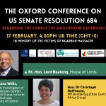 EVENT: The Oxford Conference on US Senate Resolution 684 – Re: The Conflict in Anglophone Cameroon