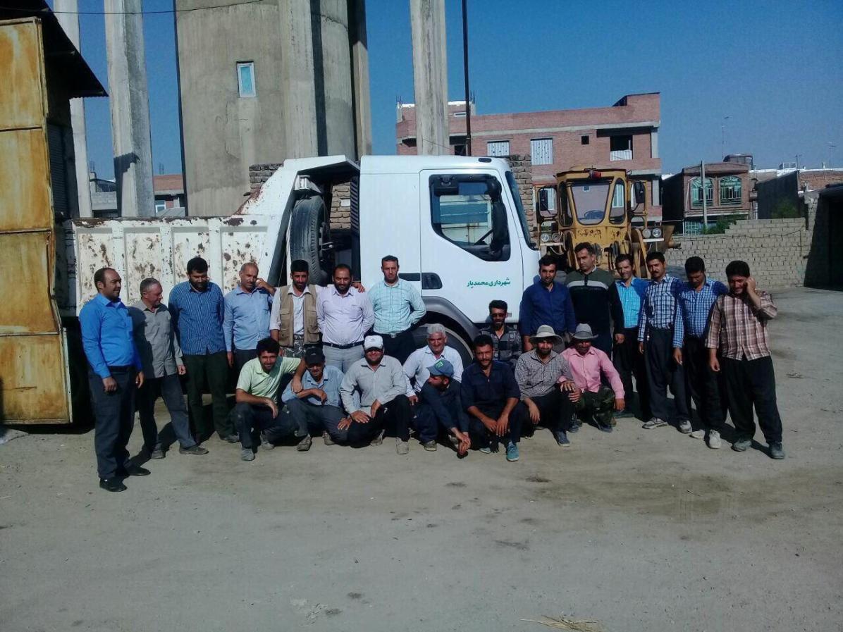 کارگران شهرداری محمدیار