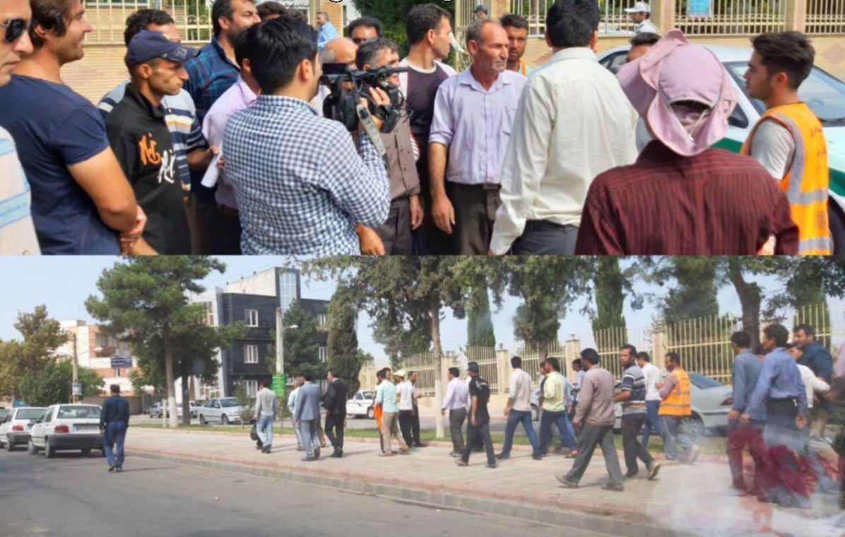 کارگران شهرداری مغان
