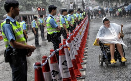 """""""Protester in a Wheelchair"""" - David Wong - South China Morning Post"""