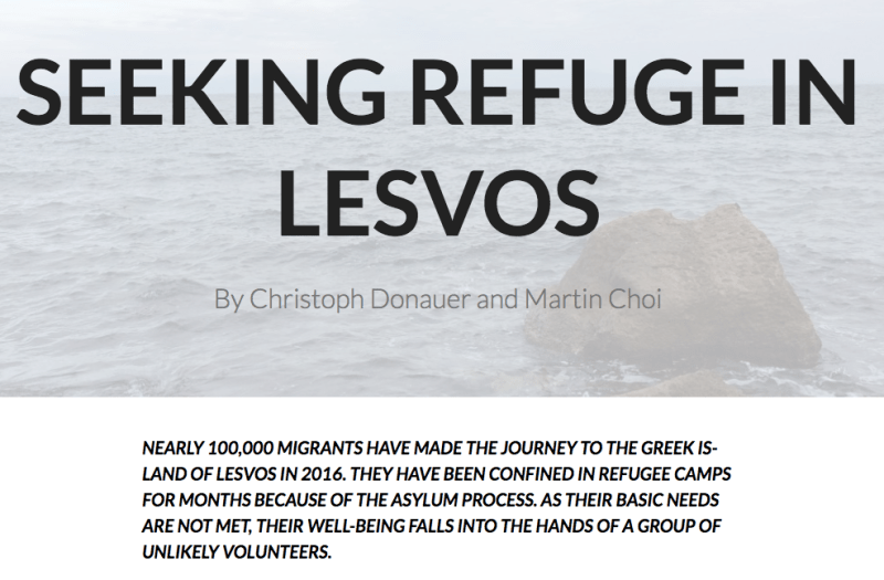 Winner of the English University Broadcast category, Seeking refuge in Lesvos