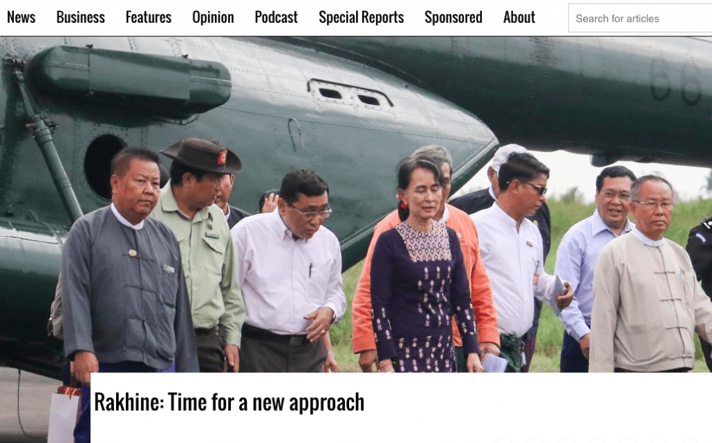 Rakhine: Time for a New Approach