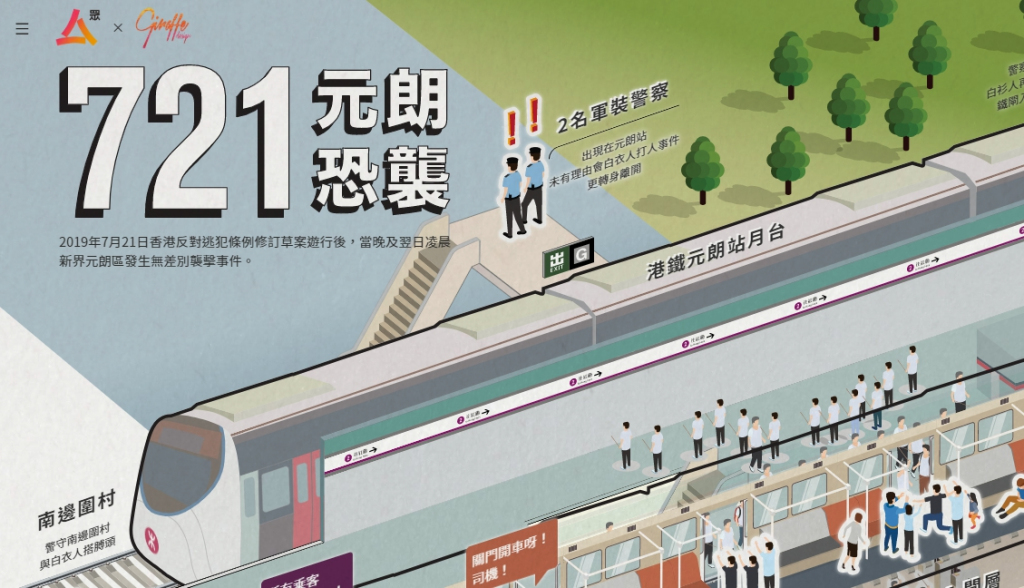 Interactive Page on 721 Yuen Long Terrorist Attack