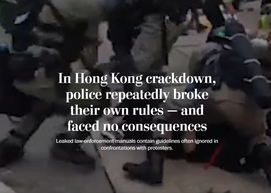 In Hong Kong Crackdown, Police Repeatedly Broke Their Own Rules — and Faced No Consequences