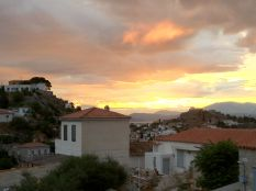 May: Sunset on the Greek island of Ydra