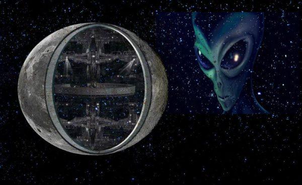 Moon Alien Space Station