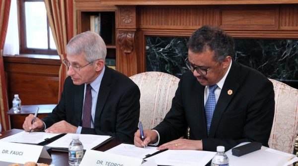 Who Director Tedros With Niaid Director Dr. Anthony Fauci
