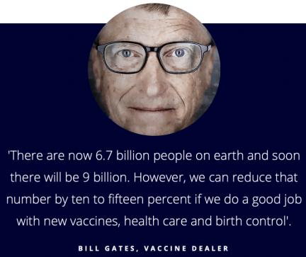Bill gates - depopulationist and vaccine dealer