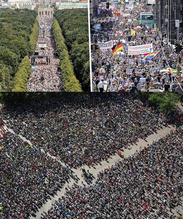 Protestul Pandemic planificat Berlin 1
